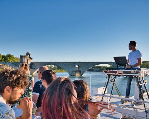 Soirée Dj à bord du Saône