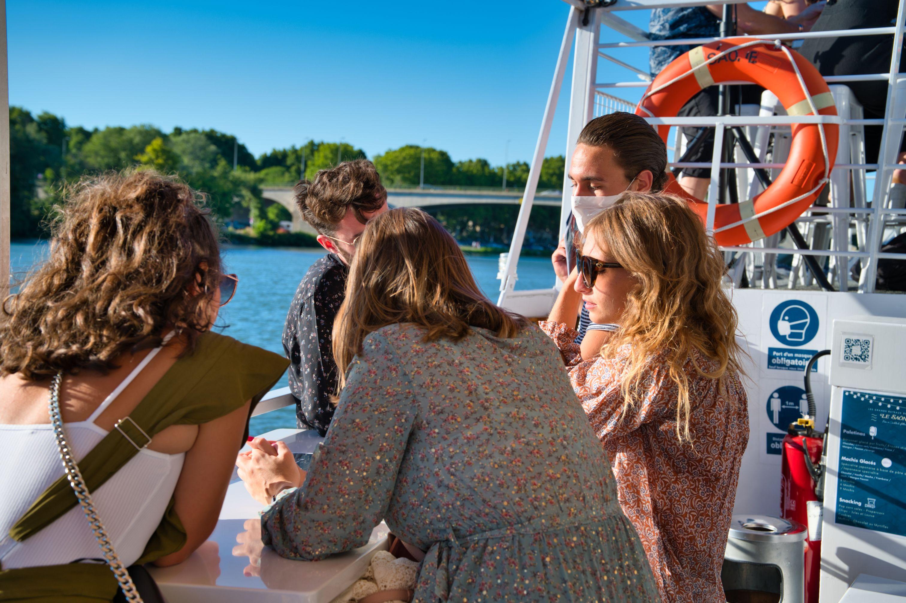 à bord du Saône